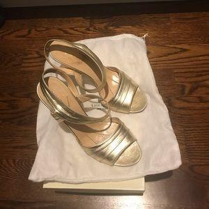 Kate spade gold heel sandals